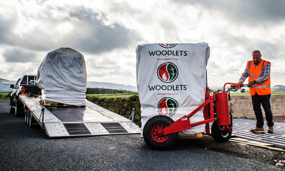 Bagged Blown Wood Pellets